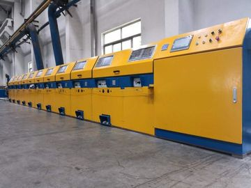China Vertical Type Straight Line Wire Drawing Machine For Low / Medium Carbon Steel factory