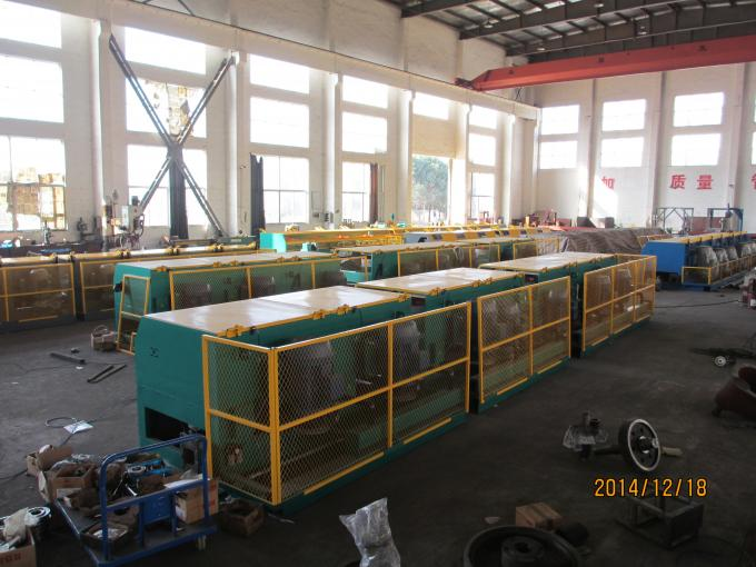 0.5mm -1.2mm Steel Wire Drawing Equipment , High Speed Fine Wire Drawing Machine For Cable
